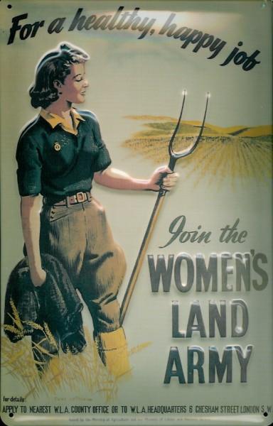 Blechschild Nostalgieschild Women's Land Army England