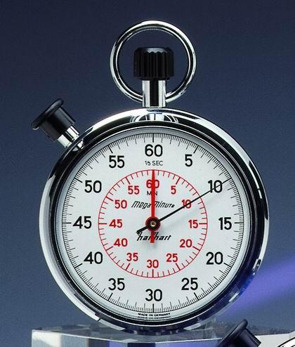 Mechanische analog Stoppuhr Hanhart MEGAMINUTE 1/5 sec 60 Minuten