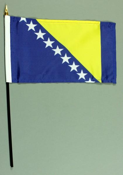 Tischflagge Bosnien Herzegowina 15x25 cm BASIC optional mit Tischflaggenständer