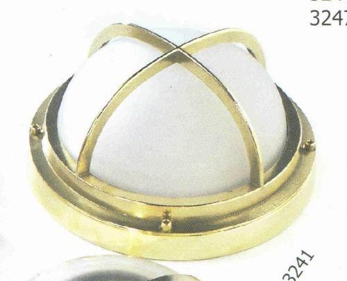 Gitterlampe Messing rund Durchmesser 24 cm 220 Volt (CHROM)