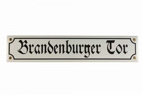 Strassenschild Brandenburger Tor 40x8 cm Berlin Souvenir Email Strassen Schild Emaille