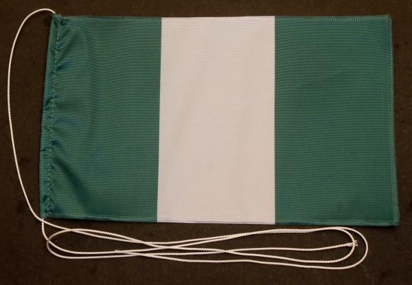 Tischflagge Nigeria 25x15 cm optional mit Holz- oder Chromständer Tischfahne Tischfähnchen