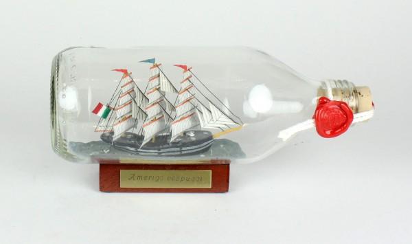 Amerigo Vespucci Italien runde Flasche 0,3 Liter Buddelschiff Flaschenschiff
