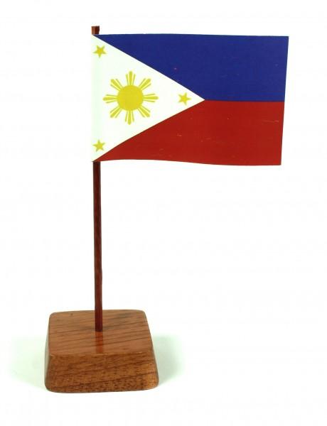 Mini Tischflagge Philippinen Höhe 13 cm Tischfähnchen