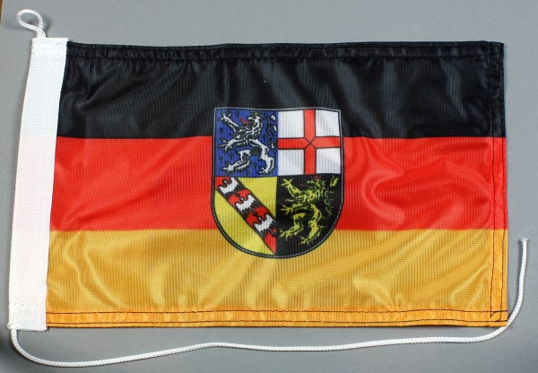 Bootsflagge : Saarland 30x20 cm Motorradflagge