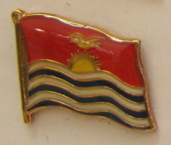 Pin Anstecker Flagge Fahne Kiribati Flaggenpin Button Badge Flaggen Clip Anstecknadel