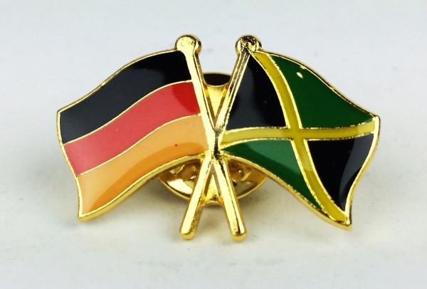 Jamaika / Deutschland Freundschafts Pin Anstecker Flagge Fahne Nationalflagge