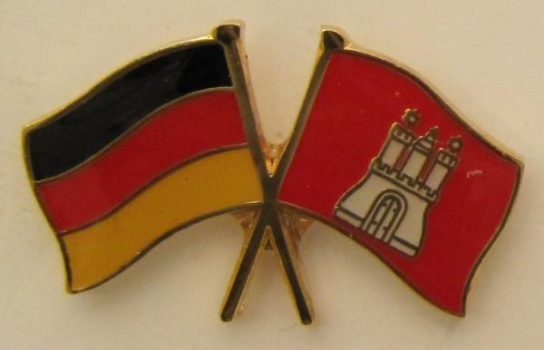 Hamburg / Deutschland Freundschafts Pin Anstecker Flagge Fahne Nationalflagge
