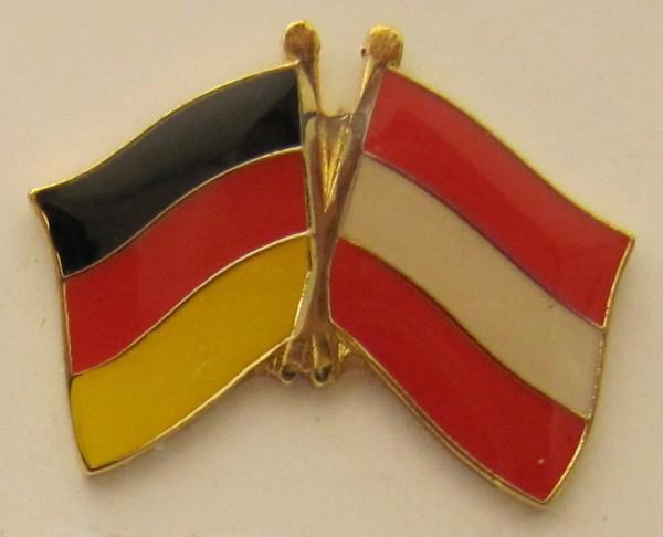 Oesterreich / Deutschland Freundschafts Pin Anstecker Flagge Fahne Nationalflagge