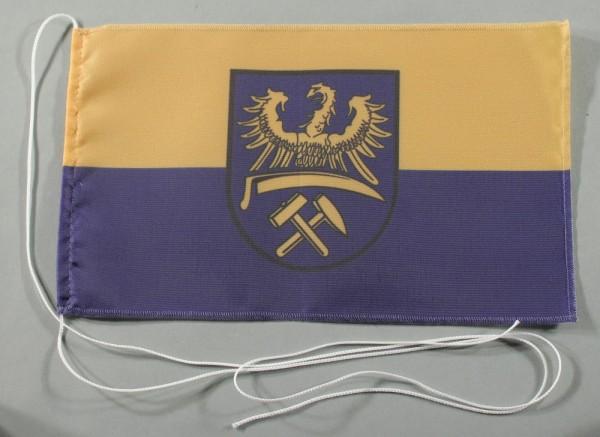 Tischflagge Oberschlesien 25x15 cm optional mit Holz- oder Chromständer Tischfahne Tischfähnchen