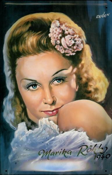 Blechschild Marika Rökk 1940 Filmplakat Werbeschild Schild Nostalgieschild