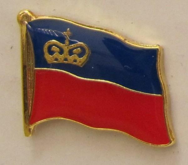 Pin Anstecker Flagge Fahne Liechtenstein Staatsflagge