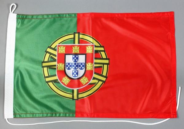 Bootsflagge Portugal 30x45 cm Motorradflagge Bootsfahne