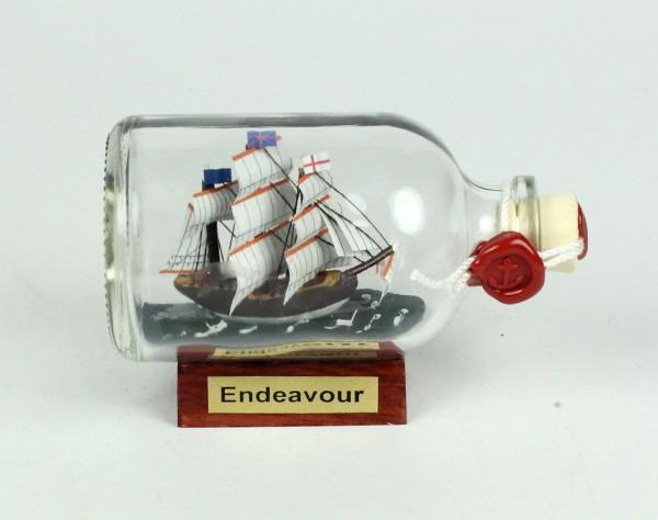 Endeavour Captain Cook Mini Buddelschiff 50 ml ca. 7,2 x 4,5 cm Flaschenschiff