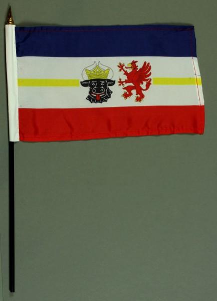 Tischflagge Mecklenburg Vorpommern 15x25 cm BASIC optional mit Tischflaggenständer