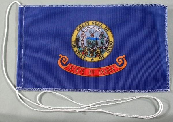 Tischflagge Idaho USA Bundesstaat US State 25x15 cm optional mit Holz- oder Chromständer Tischfahne
