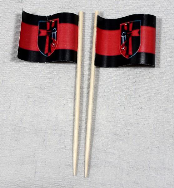 Party-Picker Flagge Sudetenland Papierfähnchen in Spitzenqualität 50 Stück Beutel