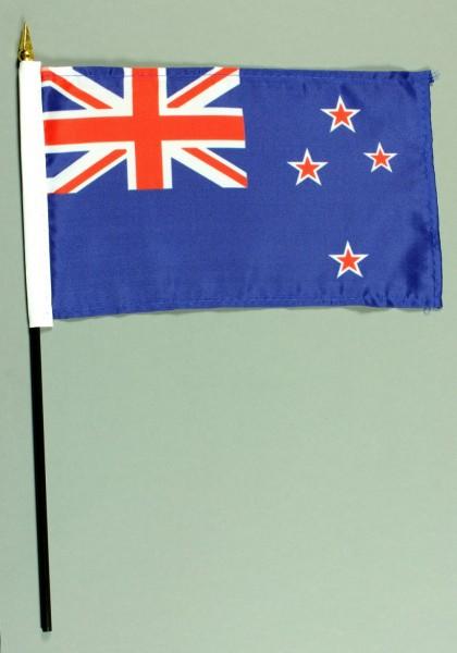 Tischflagge Neuseeland 25x15 cm BASIC optional mit Tischflaggenständer