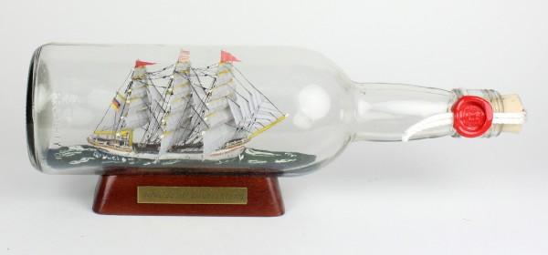 Schulschiff Deutschland 700 ml runde Flasche Buddelschiff Museumsqualität