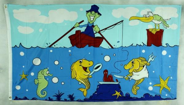 Flagge Fahne Angler Fische