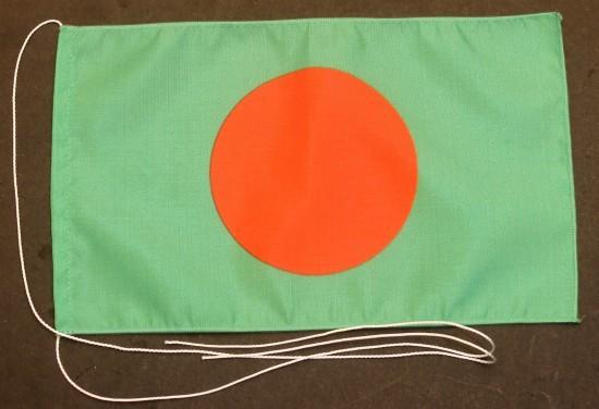 Tischflagge Bangladesh 25x15 cm optional mit Holz- oder Chromständer Tischfahne Tischfähnchen