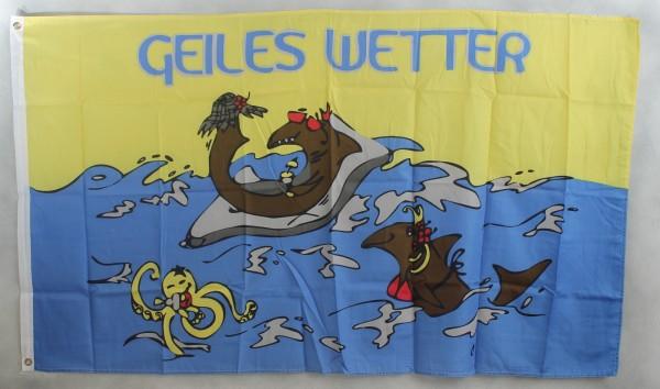 Flagge Fahne : Geiles Wetter 2