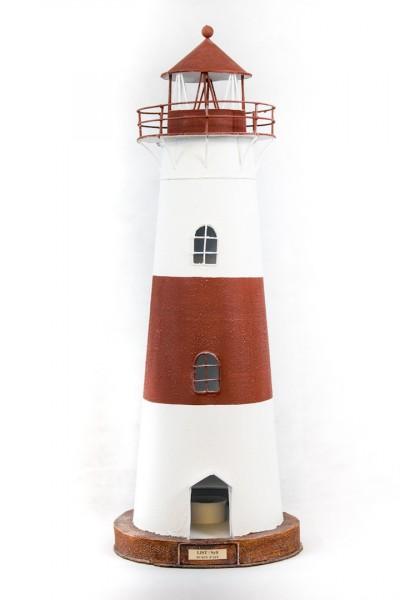 Blechleuchtturm List / Sylt ca. 70 cm Leuchtturm Modell mit Teelichthalter