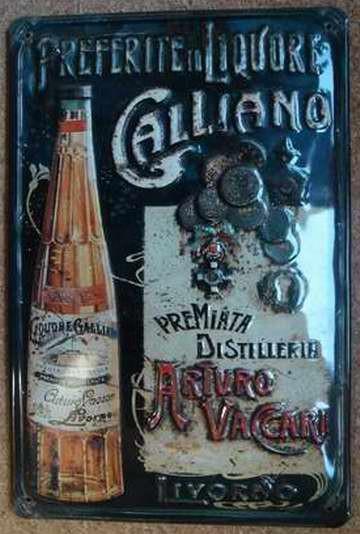 Blechschild Galliano Liquore Likör Aperitif retro Schild Werbeschild Kneipe Dekoration