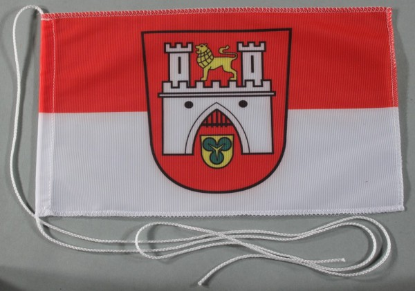 Tischflagge Hannover Stadtflagge 25x15 cm optional mit Holz- oder Chromständer Tischfahne Tischfähnc