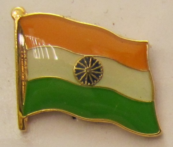 Indien Pin Anstecker Flagge Fahne Nationalflagge