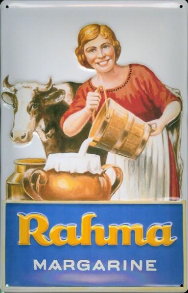 Blechschild Rama Rahma Margarine Milch Kuh Milchkuh Schild Nostalgieschild