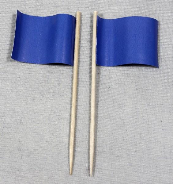 Party-Picker Flagge Uni Blau Papierfähnchen in Spitzenqualität 50 Stück Beutel