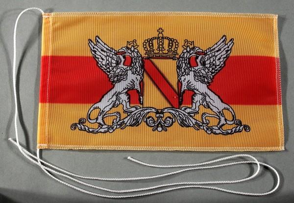 Tischflagge Baden Großherzogtum ohne Schrift 25x15 cm optional mit Holz- oder Chromständer Tischfahn