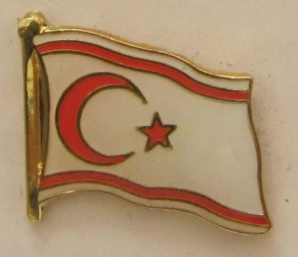 Pin Anstecker Flagge Fahne Nord Zypern Nordzypern