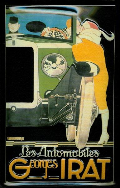 Blechschild Les Automobiles Georges Irat Nostalgieschild Schild