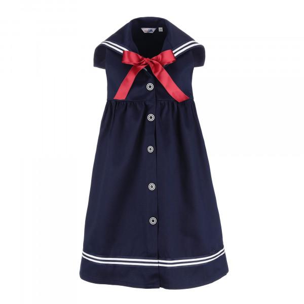 Kinder Matrosenkleid mit roter Satinschleife blau Kinderkleidung Kinderkleid alle Größen