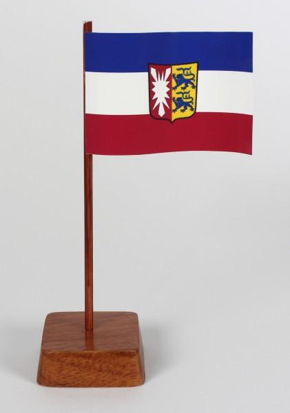 Mini Tischflagge Schleswig Holstein Höhe 13 cm Tischfähnchen