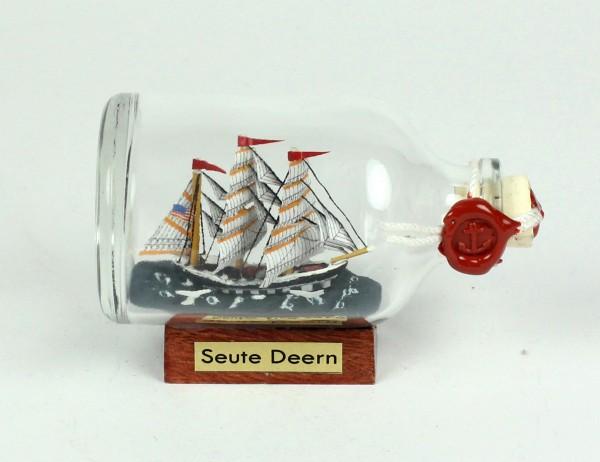 Seute Deern Mini Buddelschiff 50 ml ca. 7,2 x 4,5 cm Flaschenschiff