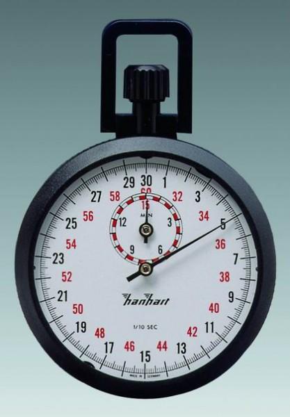Mechanische analog Kronen Stoppuhr Hanhart ABS 1/10 sec 15 min