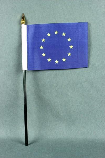 Kleine Tischflagge Europa Europaflagge EU Flagge 10x15 cm optional mit Tischfähnchenständer