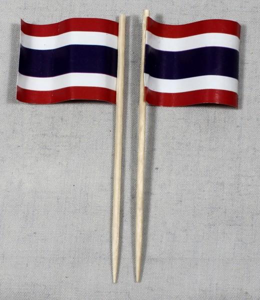 Party-Picker Flagge Thailand Papierfähnchen in Spitzenqualität 50 Stück Beutel