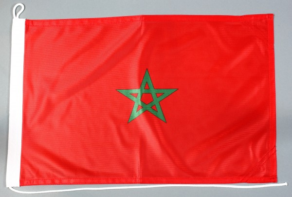 Bootsflagge Marokko 30x45 cm Motorradflagge Bootsfahne