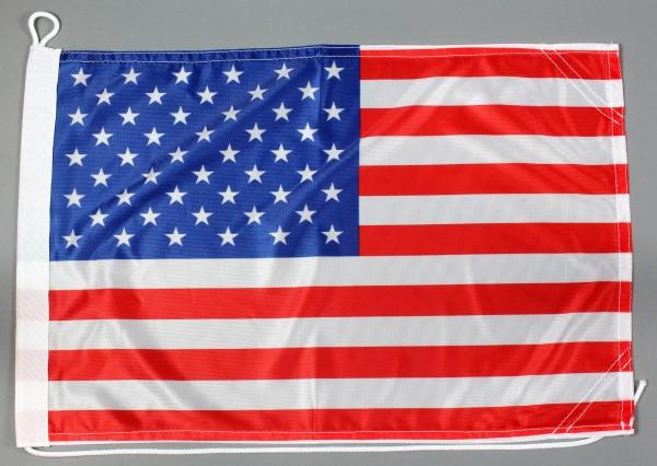 Bootsflagge USA 30x45 cm Motorradflagge Bootsfahne