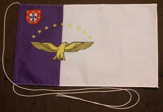 Tischflagge Azoren 25x15 cm optional mit Holz- oder Chromständer Tischfahne Tischfähnchen