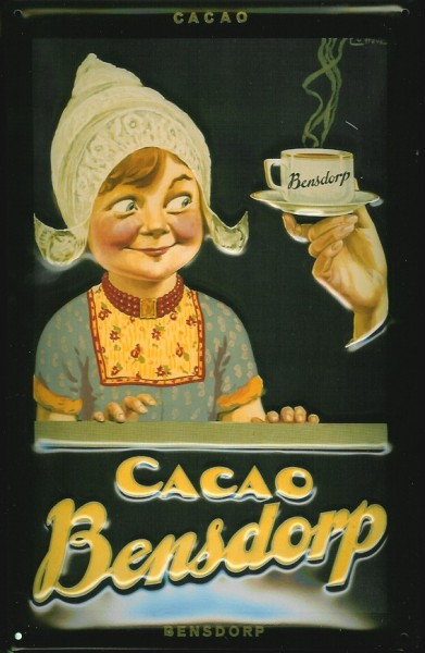 Blechschild Cacao Bensdorp Kakao Holland Retro Schild Nostalgieschild