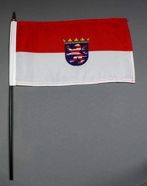 Tischflagge Hessen 25x15 cm BASIC optional mit Tischflaggenständer