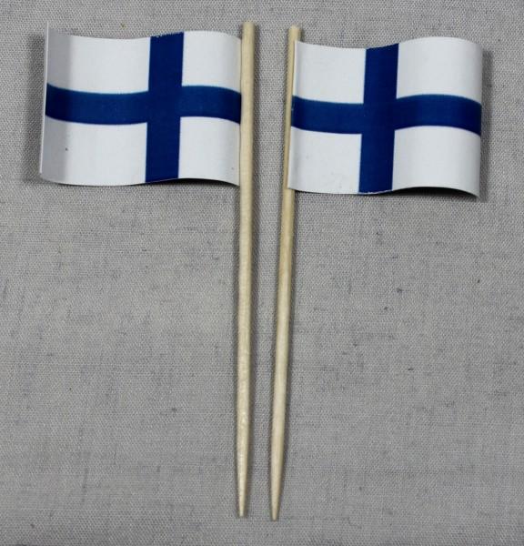Party-Picker Flagge Finnland Papierfähnchen in Spitzenqualität 50 Stück Beutel