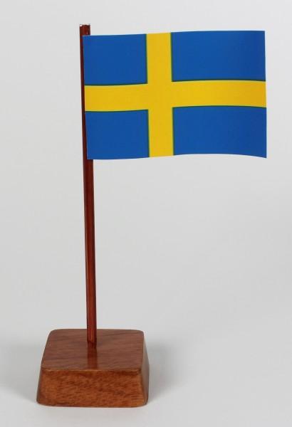 Mini Tischflagge Schweden Höhe 13 cm Tischfähnchen