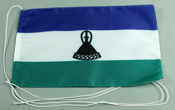 Tischflagge Lesotho 25x15 cm optional mit Holz- oder Chromständer Tischfahne Tischfähnchen