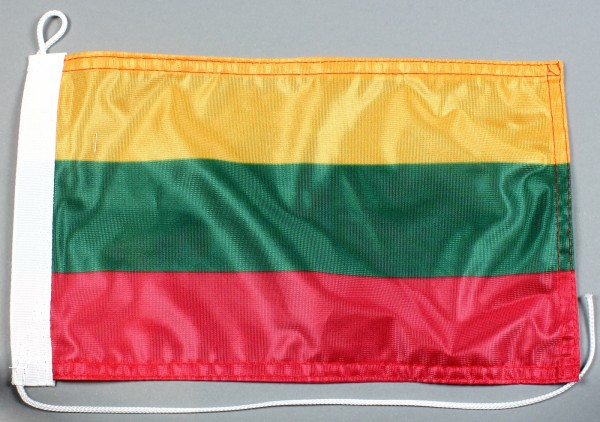 Bootsflagge : Litauen 30x20 cm Motorradflagge